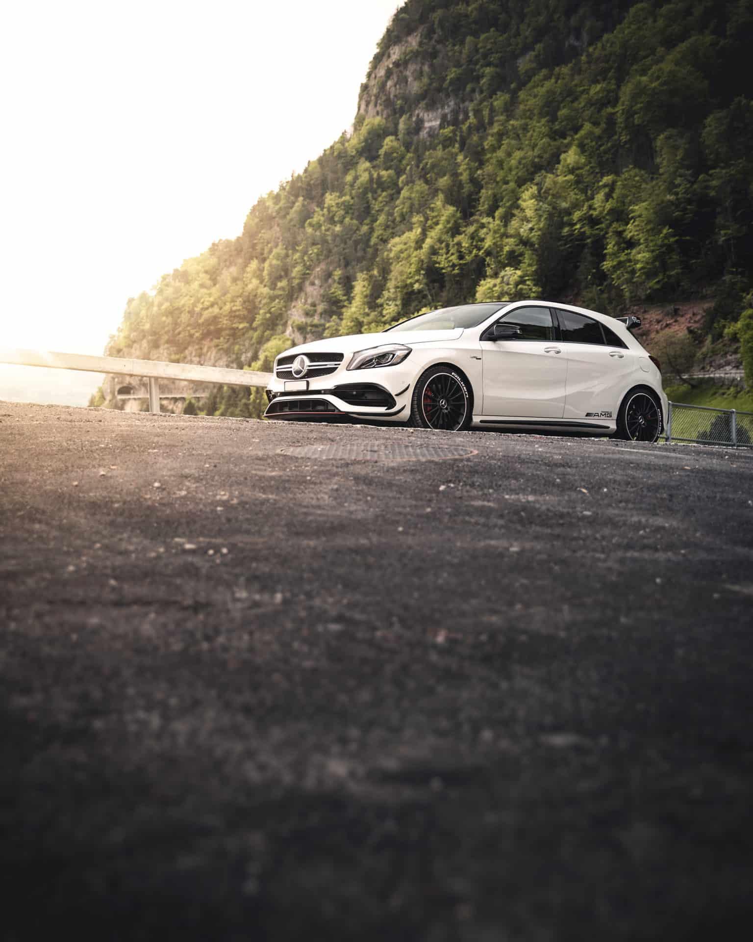 Mercedes A45 AMG weiss