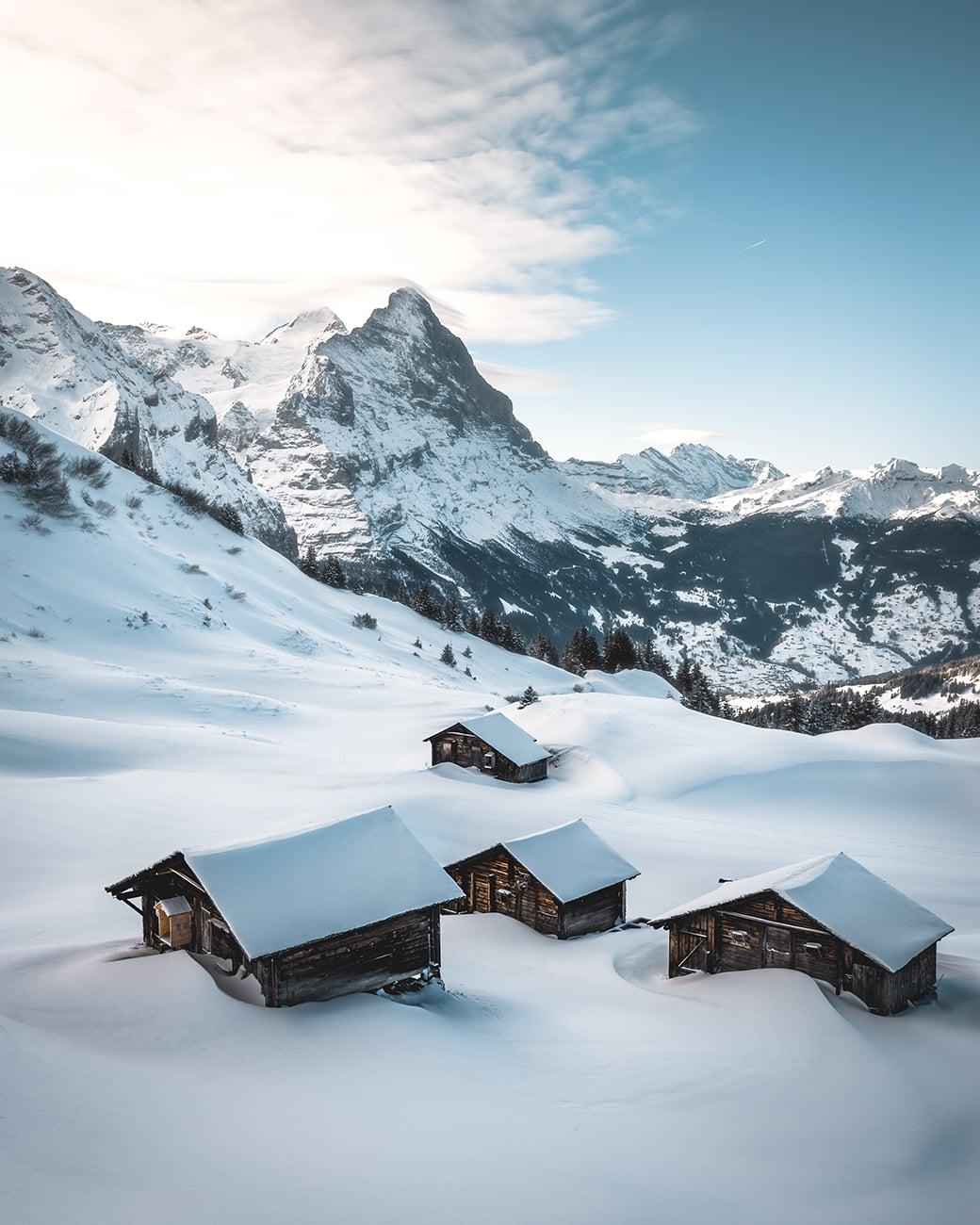 Grosse Scheidegg Grindelwald Winter