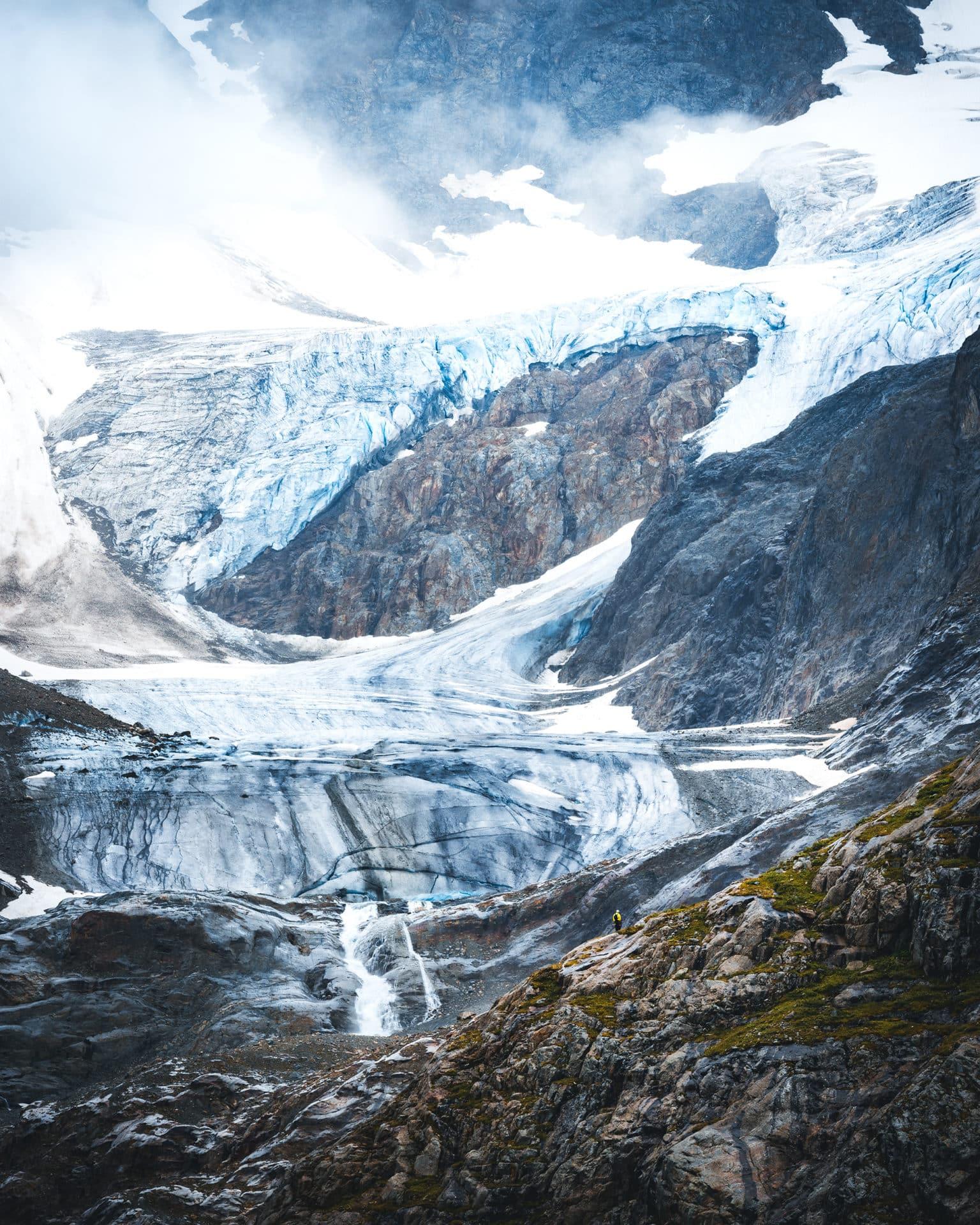 Steingletscher Sustenpass scale