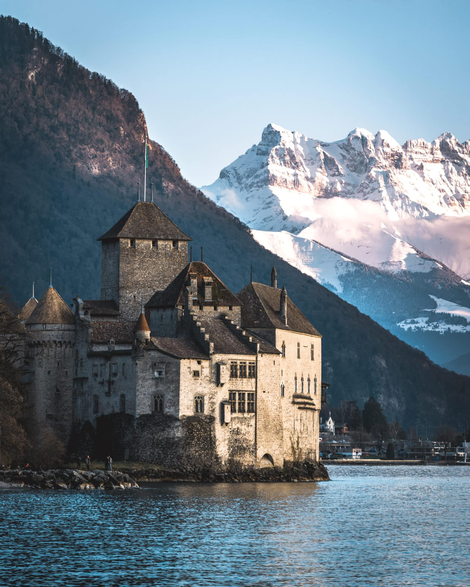 Chateau de Chillon Berge