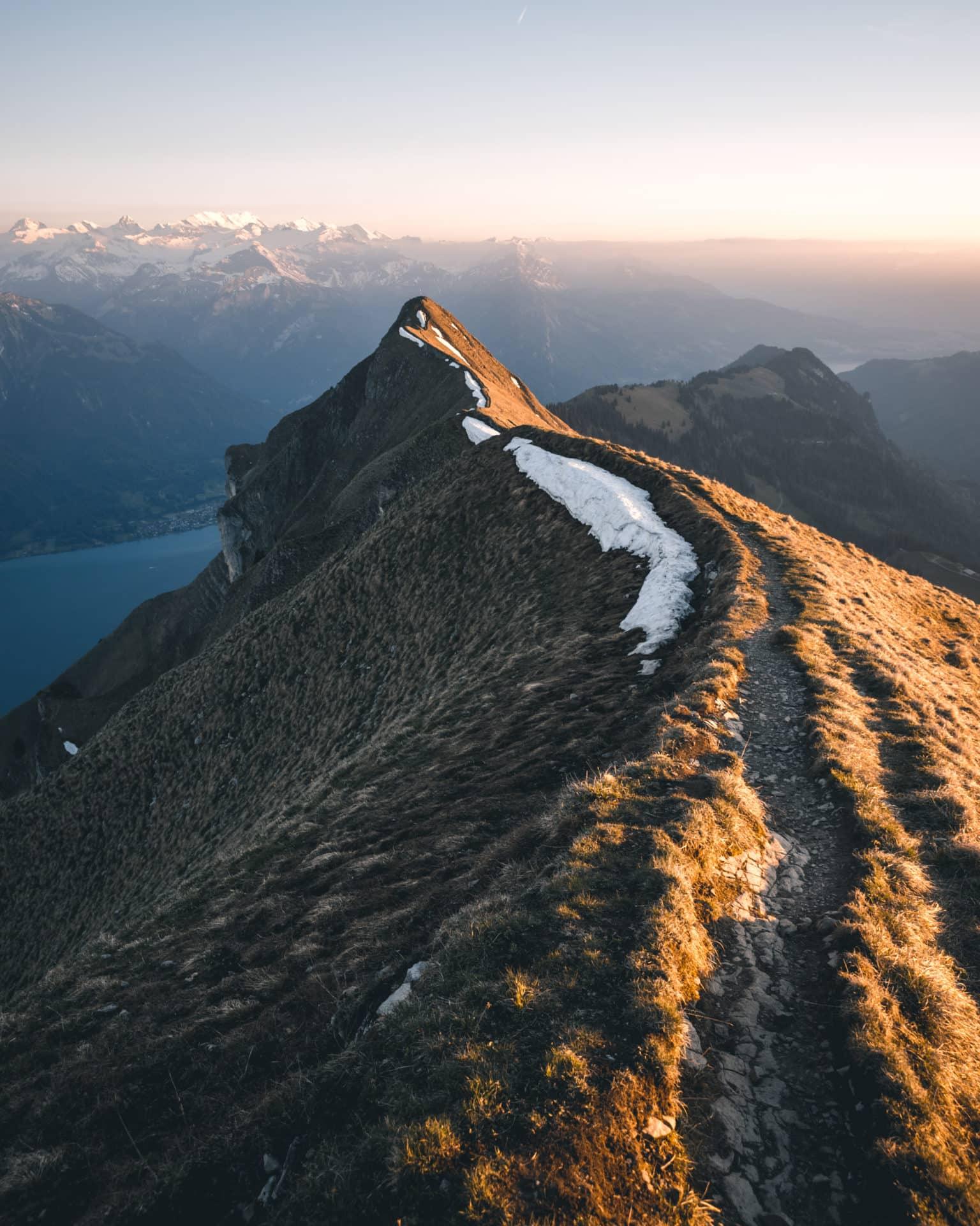 Augstmatthorn Brienzergrat Sonnenuntergang