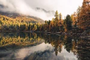 Goldener Herbst im Engadin