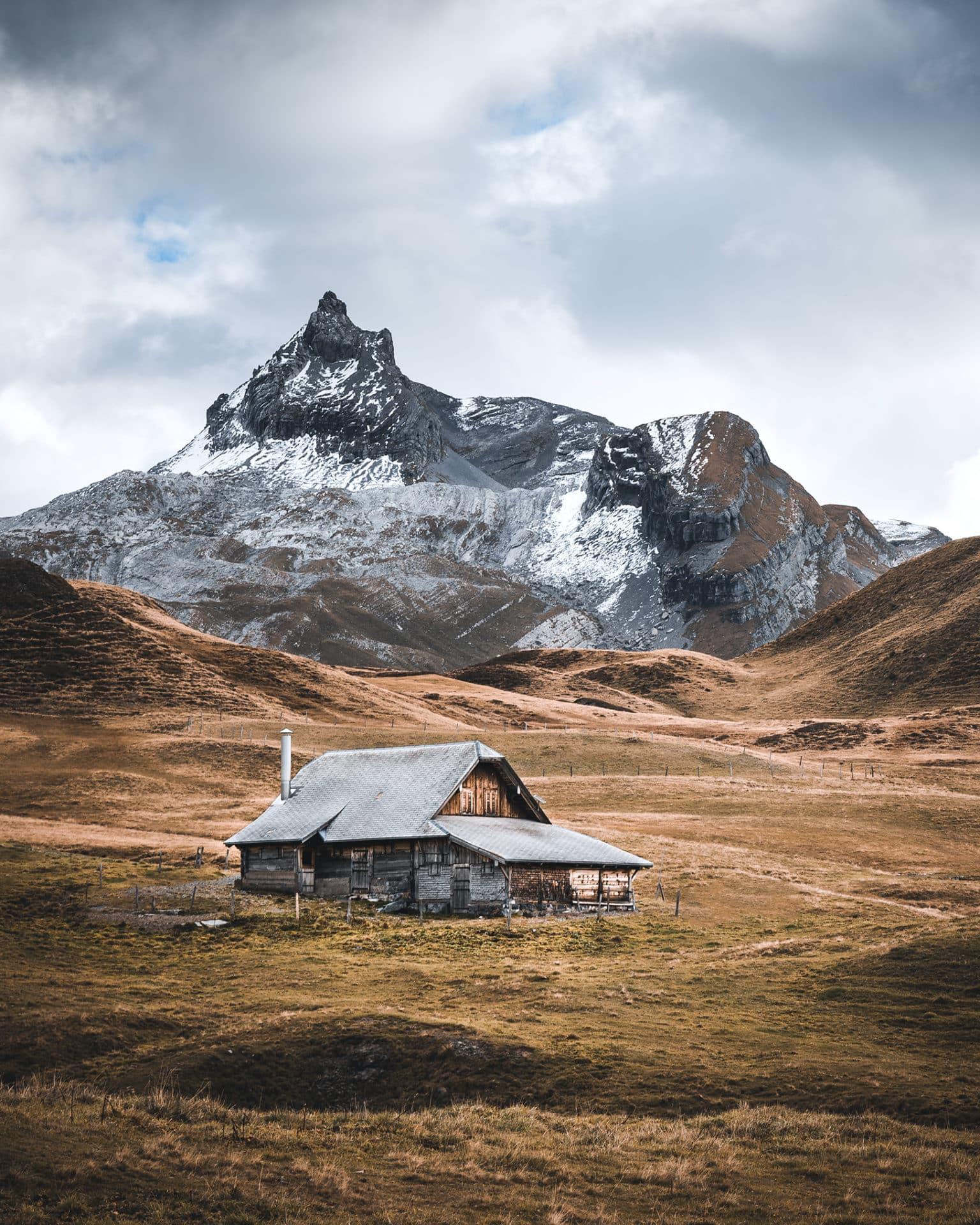 Herbst Hütte Berg